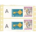 1.30 Fr. à 50 Stück auf Etiketten Selbstklebend